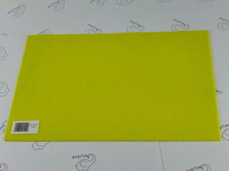 Filc samoprzylepny żółty A4