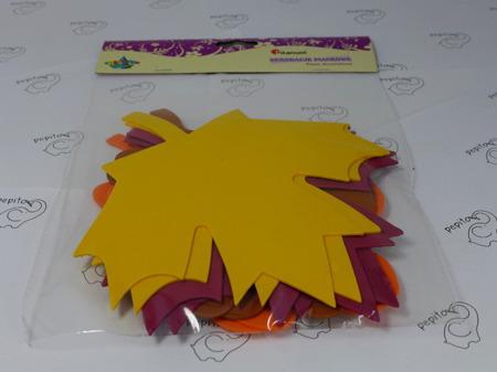 Liście z pianki w 4 kolorach 8 sztuk Titanum