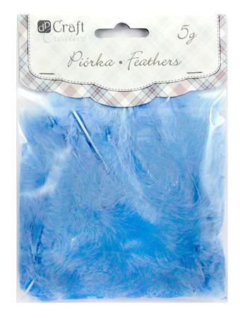 Piórka 5-12cm 5g niebieskie dp Craft